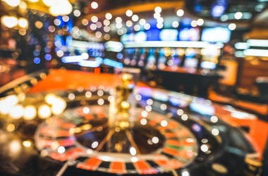Casino, Defocused, Blurry, Roulette, Neon Lights