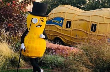 Mr. Peanut, Planters, Peanuts, Costume, Posing, Peanut Mobile