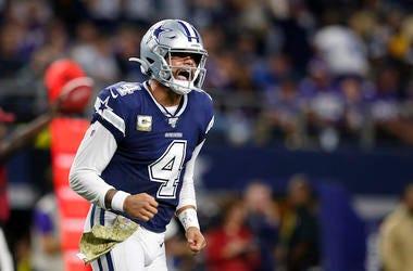 Dak Prescott, Dallas Cowboys, Minnesota Vikings, Game, Touchdown, 2019