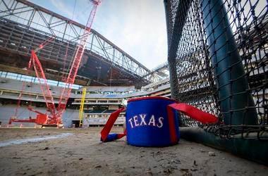 Globe Life Field, Texas Rangers, Under Construction, Ball Bag, 2019