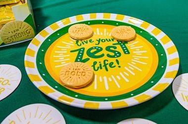Girl Scout Cookies, Lemon-Ups, Cookies, Girl Scouts, Plate, 2019