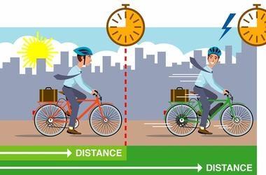 Regular bike versus electric bike