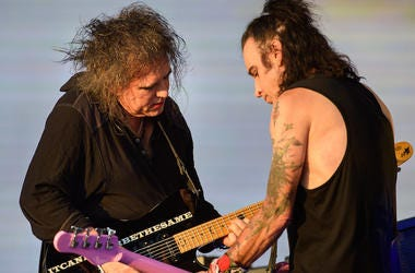 Robert Smith, Simon Gallup, The Cure, Concert, British Summer Time Festival, Outdoors, 2018