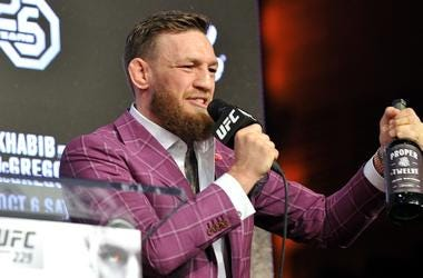 Two division UFC champion Conor McGregor participates in the UFC 229: Khabib vs McGregor press conference at Radio City Music Hall in New York, NY on September 20, 2018.