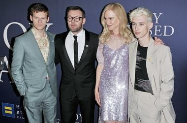 "(L-R) Lucas Hedges, Joel Edgerton, Nicole Kidman and Troye Sivan arrives at the ""Boy Erased"" Los Angeles Premiere held at the DGA in West Hollywood, CA on Monday, ​October 29, 2018."
