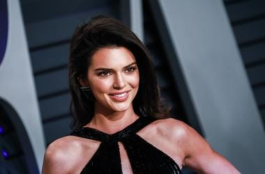 Kendall Jenner walking on the red carpet at the 2019 Vanity Fair Oscar Party held at the Wallis Annenberg Center for the Performing Arts in Beverly Hills, Los Angeles, California, USA on Feb. 24, 2019