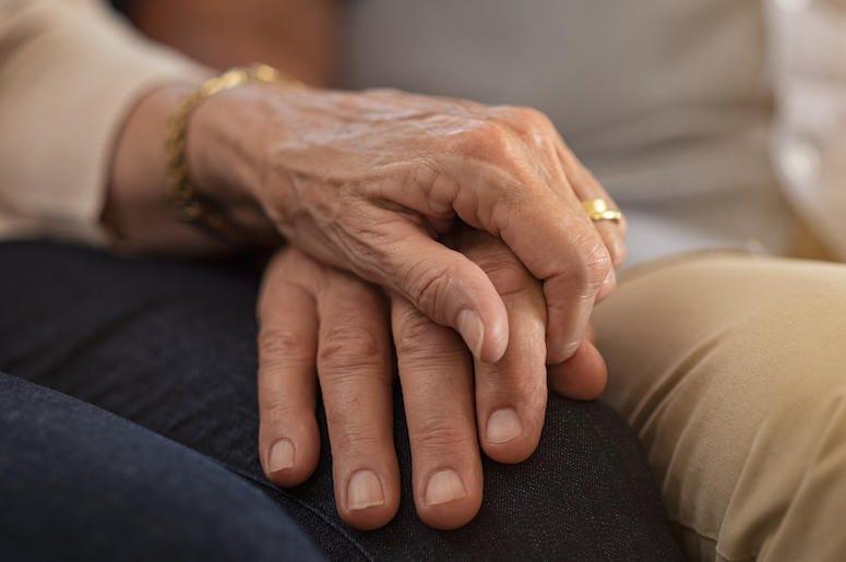 Senior Couple, Holding Hands