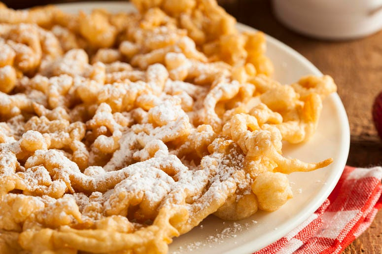 funnel cake at State Fair
