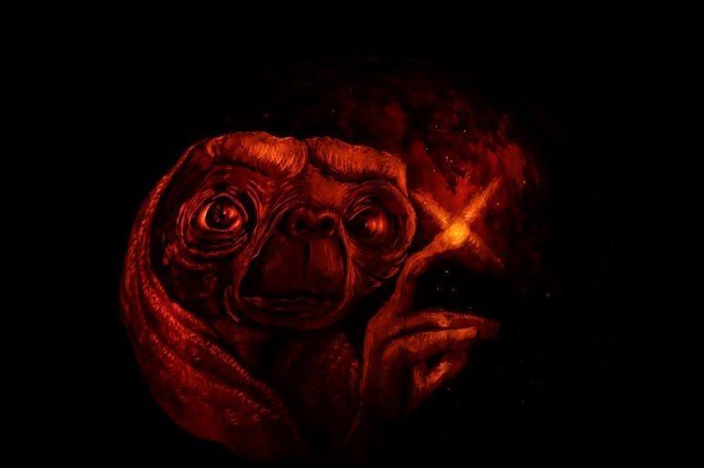 E.T., Pumpkin, Carving, Jack-O-Lantern, Phone Home, 2018