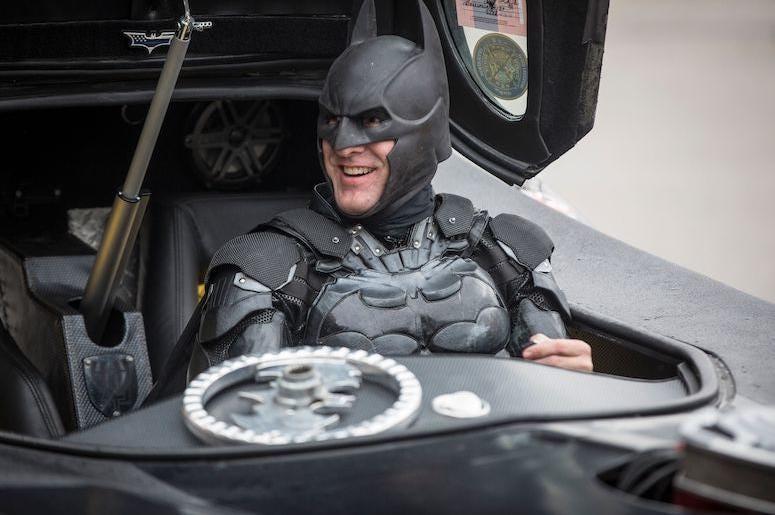 John Buckland, Batman, Costume, Batmobile, Albany Elementary, 2018
