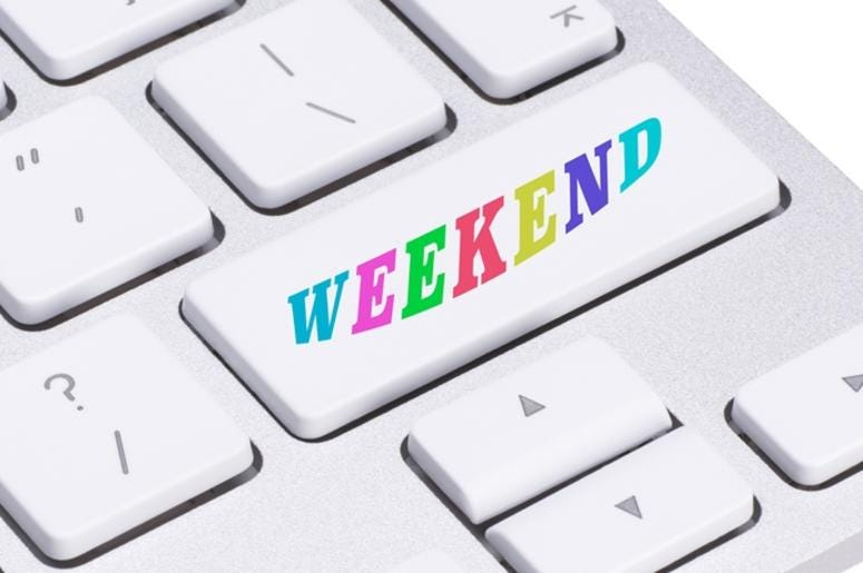Computer key - days of the week - Weekend