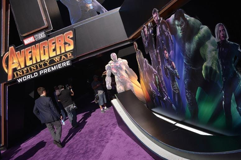 "Monday April 22, 2018 - Hollywood premiere of Marvel Studios' ""Avengers: Infinity War"""