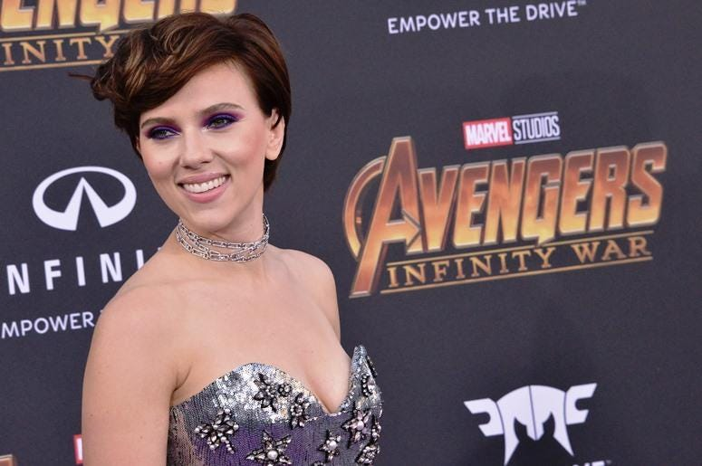 "Scarlett Johansson arrives at Marvel Studios' ""Avengers: Infinity War"" held on Hollywood Blvd in Hollywood, CA on Monday, April 22, 2018"
