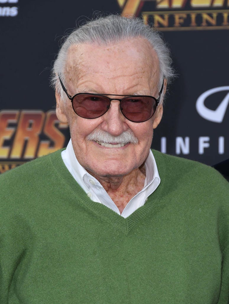 "23 April 2018 - Hollywood, California - Stan Lee. Disney and Marvel's ""Avengers: Infinity War"" Los Angeles Premiere held at Dolby Theater"