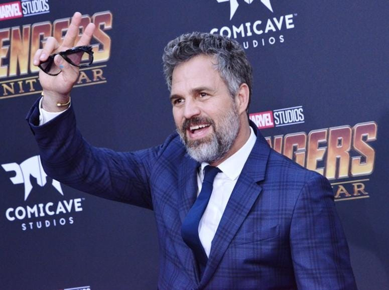 "Mark Ruffalo arrives at Marvel Studios' ""Avengers: Infinity War"" held on Hollywood Blvd in Hollywood, CA on Monday, April 22, 2018."