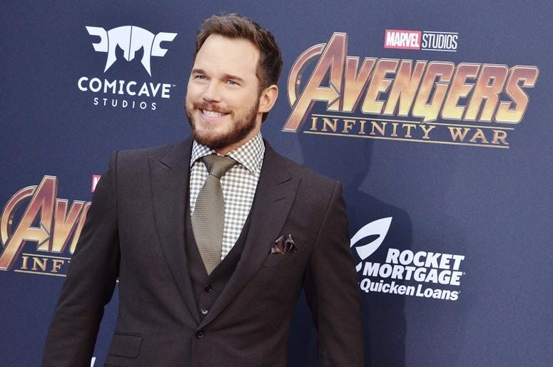 "Chris Pratt arrives at Marvel Studios' ""Avengers: Infinity War"" held on Hollywood Blvd in Hollywood, CA on Monday, April 22, 2018."