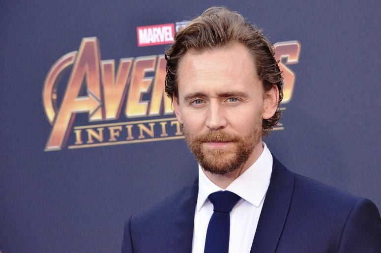 "Tom Hiddleston arrives at Marvel Studios' ""Avengers: Infinity War"" held on Hollywood Blvd in Hollywood, CA on Monday, April 22, 2018."