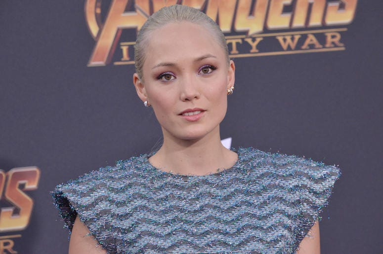 "Pom Klementieff arrives at Marvel Studios' ""Avengers: Infinity War"" held on Hollywood Blvd in Hollywood, CA on Monday, April 22, 2018"