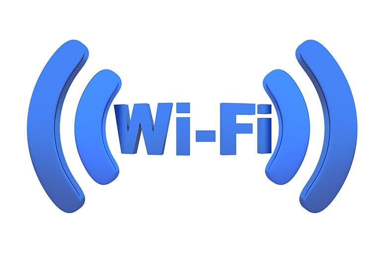 Wi-fi. Station, white