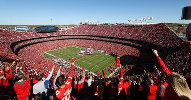 A general view of Arrowhead stadium during the game between the Denver Broncos and the Kansas City Chiefs 28, 2018 in Kansas City, Missouri.