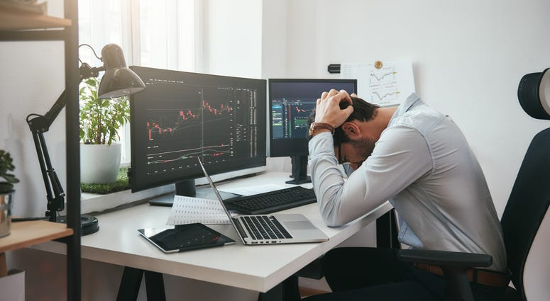Trader on Market Crash