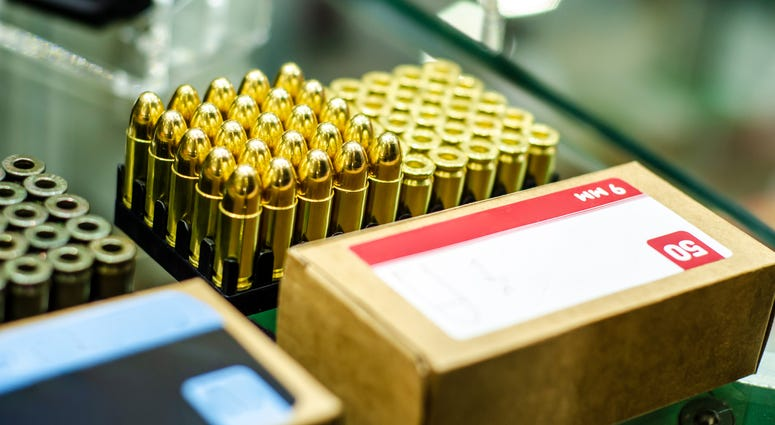 Ammunition at gun store