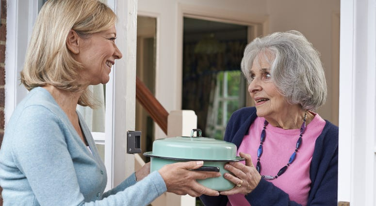 Meal delivery service for senior citizen