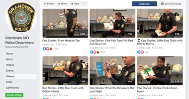 A screenshot of listed videos on the Grandview MO police department facebook page