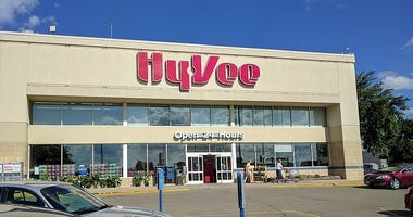 The exterior of a Hy-Vee store