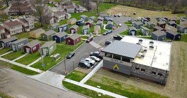 A view from above of the VCP tiny village in south Kansas City