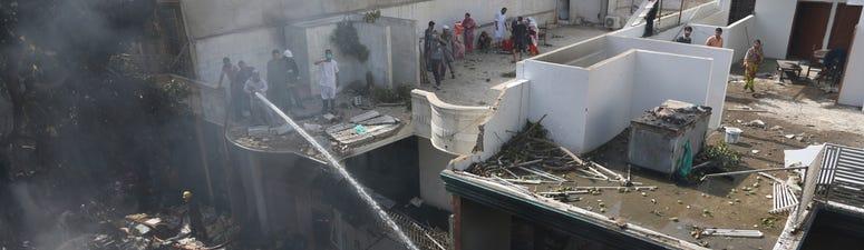 Pakistan plane with 107 on board crashes near Karachi
