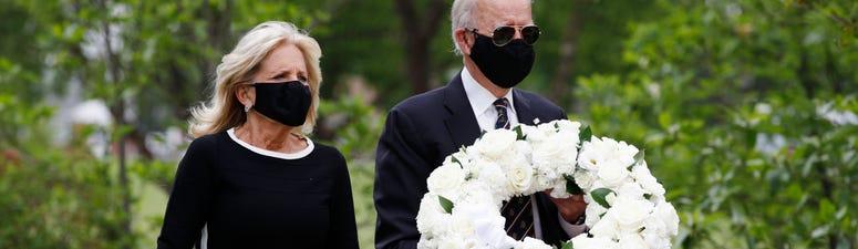 Biden marks Memorial Day at veterans park near Delaware home