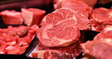 Cuts of beef on display