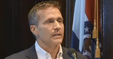 Governor Eric Greitens in his office announces his resignation on May 29th