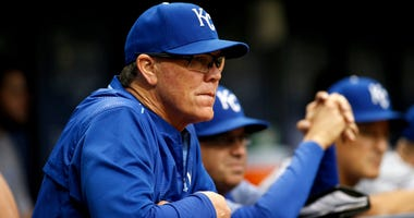 KC Royals manager Ned Yost in the dugout
