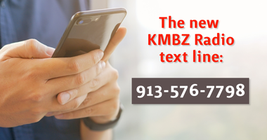 A graphic highlighting the change to the KMBZ textline
