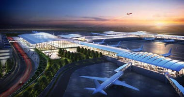 Edgemoor's conceptual drawing of new KCI exterior