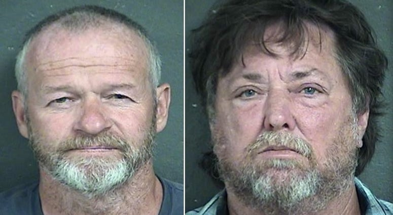 John Zalsman and David Hughes mugshots after they were indicted by the Kansas Attorney General