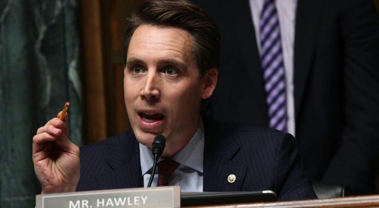 Missouri Sen. Josh Hawley speaks in a congressional hearing