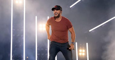 country music artist Luke Bryan on stage in concert