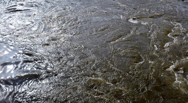 River water swirls