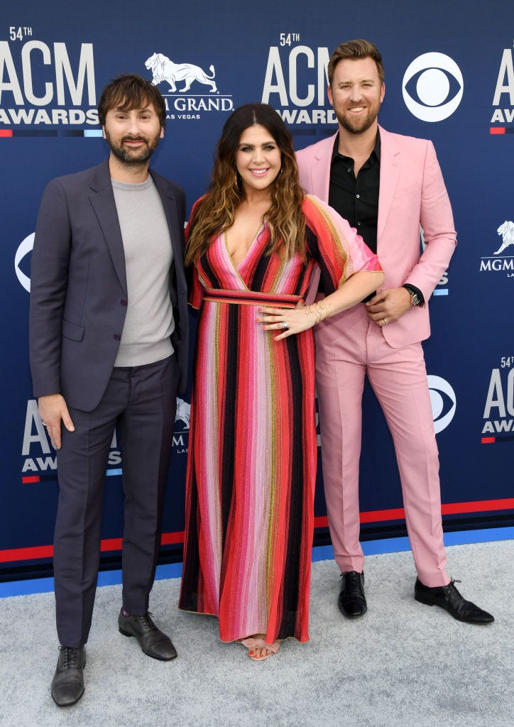 Lady Antebellum attends the 54th Academy Of Country Music Awards at MGM Grand Hotel & Casino on April 07, 2019 in Las Vegas, Nevada