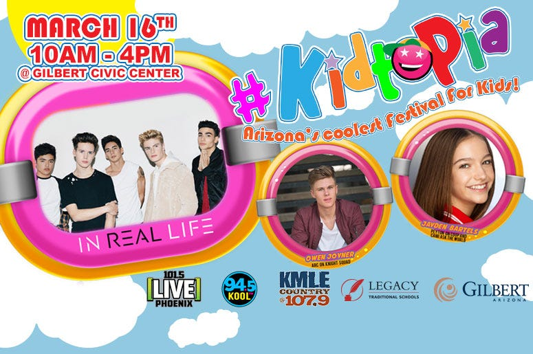 LEGACY TRADITIONAL SCHOOLS AND THE New KMLE @ 107.9 PRESENTS #KIDTOPIA!