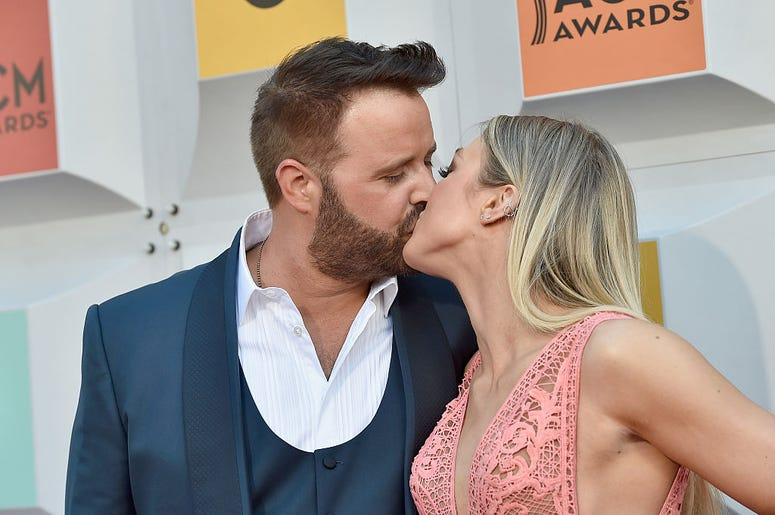 Singer Randy Houser (L) and Tatiana Starzynski attend the 51st Academy of Country Music Awards at MGM Grand Garden Arena on April 3, 2016