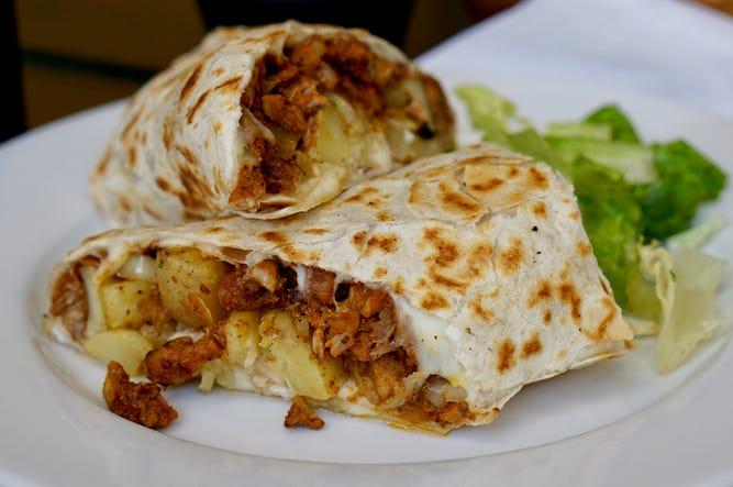 Mad Mex pineapple burrito