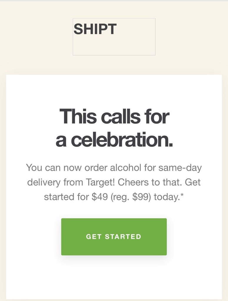 Target SHIPT delivery service