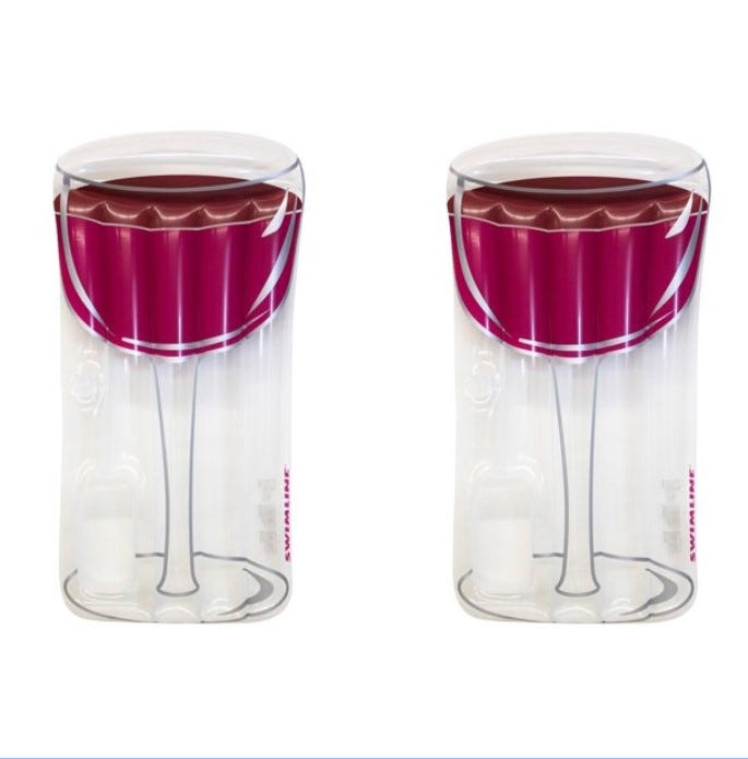 Red Wine Glass Raft Floats, best pool floats,
