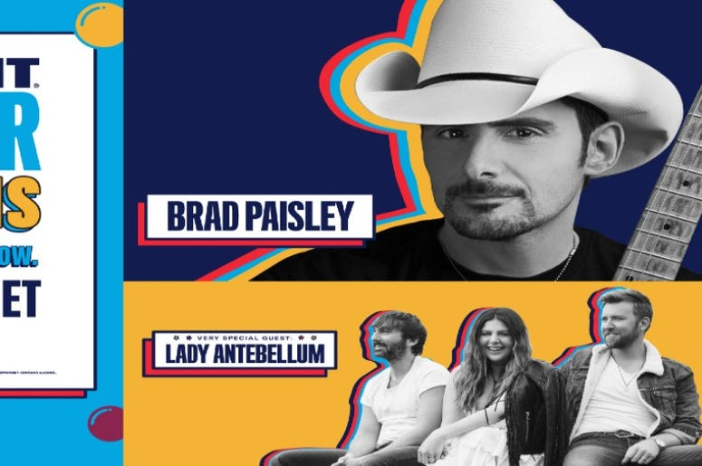 """Bud Light is proud to continue its """"Bud Light Seltzer Sessions: Your Flavor. Your Show."""", Brad Paisley, Lady Antebellum"""