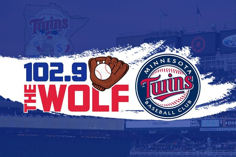 Minnesota Twins games on 102.9 The Wolf