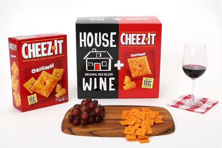 Cheez-It House Wine, cheez-it and wine dual box, cheez-it and wine combo